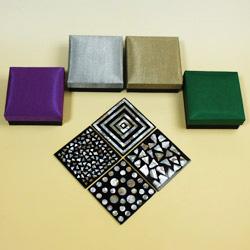 シェルコースター6枚セット(ケース付・モザイク大)は、全4種類もあります!