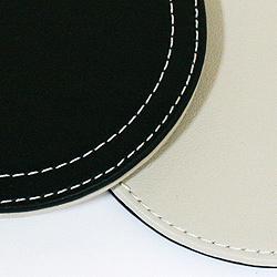 本革製コースター6枚セット(ケース付・レッド)拡大画像