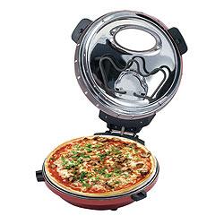 回転卓上石窯 ピザ&ロースター(タイマー付き)は、ガパっと大きく開くので取り出しもらくらくです。