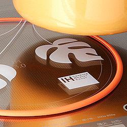 IHクッキングヒーターカバー すべり止めシリコンリング付きの設置イメージ