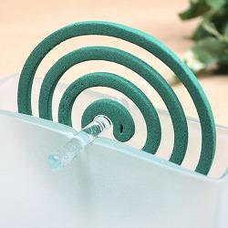 バリガラス製蚊やり(蚊取り線香ホルダー)角・フロスト