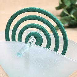 バリガラス製蚊やり(蚊取り線香ホルダー)ラウンド・フロスト
