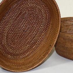 バリ・アタ製マルチバスケット(小物入れ)底面はキレイな楕円形を描いてます!