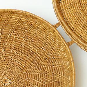 バリ・アタ製マルチバスケット(収納ケース)大は、編みこみが丁寧。