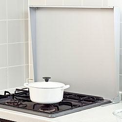 ステンレス製 IHクッキングヒーター&ガスコンロカバー<br />(システムキッチン用)シルバー 75cm