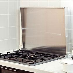 ステンレス製 IHクッキングヒーター&ガスコンロカバー<br />(システムキッチン用)75cm