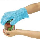 耐熱シリコン製・五本指クッキンググローブ、使用例2