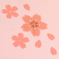【日本製】二段オードブル重箱 舞桜 ピンク(小)桜の中に、キラキラ輝くラメ入り!
