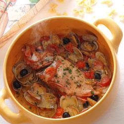 耐熱セラミック鍋「マルチポット」調理例アクアパッツァ