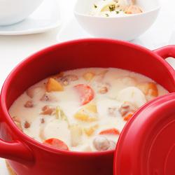 耐熱セラミック鍋「マルチポット」調理例クリームシチュー