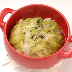 耐熱セラミック鍋「マルチポット」調理例無水料理も可能