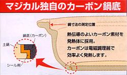 マジカルドなべ、カーボンなべ底の構造断面図