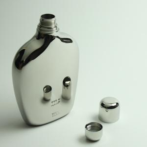 【日本製】磨き屋シンジケート・スキットル(ヒップフラスコ)鏡のようなボディ