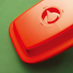 K'dep 電子レンジで焼き魚 マイクロウェーブヒートプレート(レッド&ホワイト)マルチな蓋