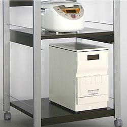 オーブン・電子レンジ用オープンラック(レンジ台)バスケットを取り外せば、背の高いものも置ける下棚板!