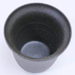 陶器二重構造・焼酎カップ、中にラインが見える