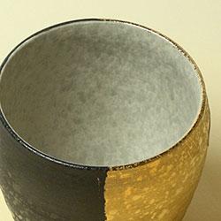 【日本製】有田焼 ZEN 名入れ焼酎カップ(金彩)370cの口部