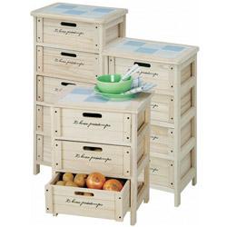 桐製・収納4段ボックス(チェスト)は3種類から選べます。